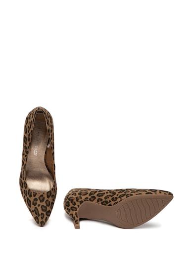 Marco Tozzi Pantofi cu animal print si varf ascutit Femei