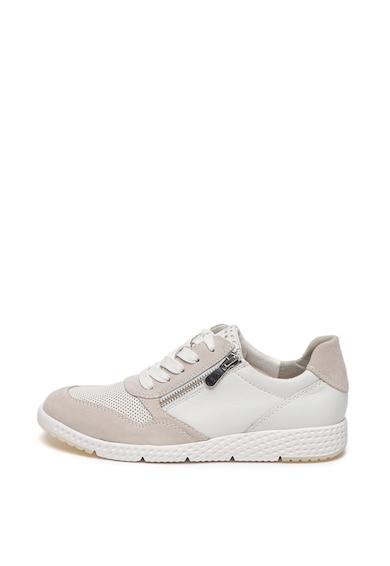 Marco Tozzi Pantofi sport de piele cu branturi detasabile Femei