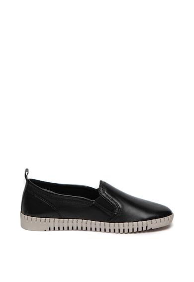 Marco Tozzi Pantofi loafer de piele, cu cusaturi contrastante Femei