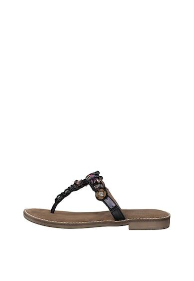 Marco Tozzi Papuci flip-flop de piele Femei