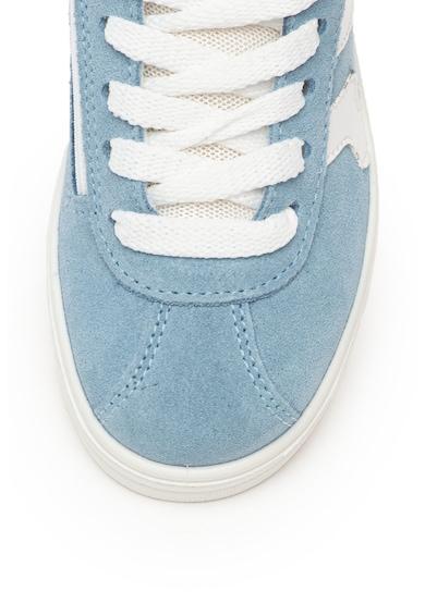 Primigi Pantofi sport de piele intoarsa si piele, cu branturi detasabile Fete