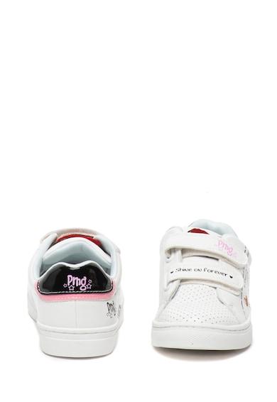 Primigi Pantofi sport de piele ecologica cu imprimeu text si velcro Fete