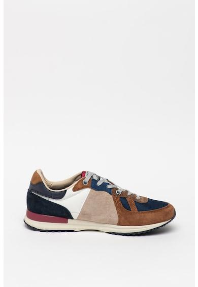 Pepe Jeans London Pantofi sport de piele intoarsa, cu insertii de plasa Tinker Pro Barbati