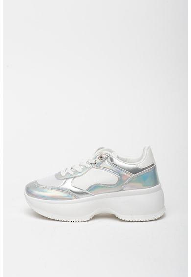 RB DI ROCCOBAROCCO Pantofi sport de piele ecologica, cu garnituri holografice Adela Femei