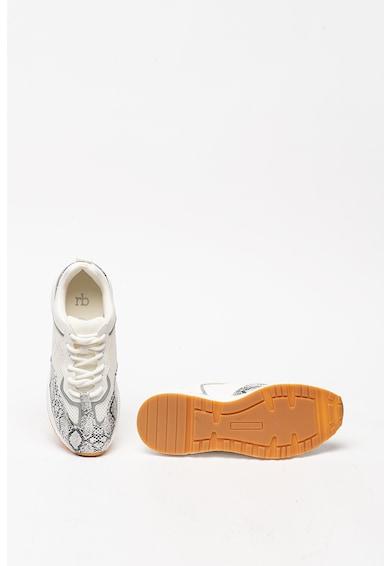 RB DI ROCCOBAROCCO Pantofi sport de piele ecologica, cu garnituri cu model piele de sarpe Heze Femei