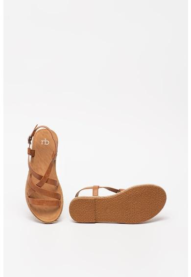 RB DI ROCCOBAROCCO Sandale de piele ecologica, cu barete multiple Laila Femei