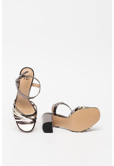 RB DI ROCCOBAROCCO Sandale din piele ecologica cu toc masiv Syrma Femei
