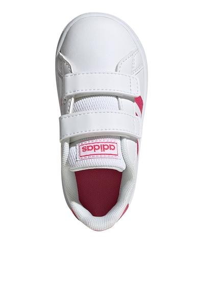 adidas Performance Pantofi sport cu insertii stralucitoare Grand Court Fete