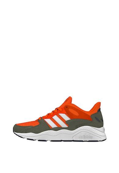 adidas Performance Pantofi sport cu insertii din piele intoarsa CrazyChaos Barbati