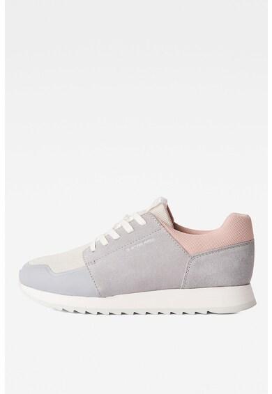 G-Star RAW Pantofi sport de piele intoarsa sintetica cu insertii de piele Femei