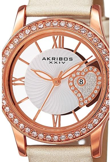 AKRIBOS XXIV Ceas analog incrustat cu cristale Femei