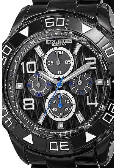 AKRIBOS XXIV Ceas cronograf cu bratara metalica Barbati