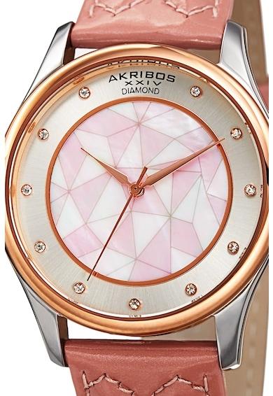AKRIBOS XXIV Ceas quartz decorat cu diamante Femei