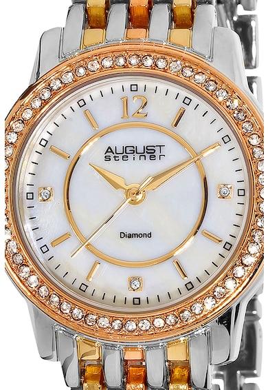 August Steiner Ceas analog decorat cu cristale si diamante Femei