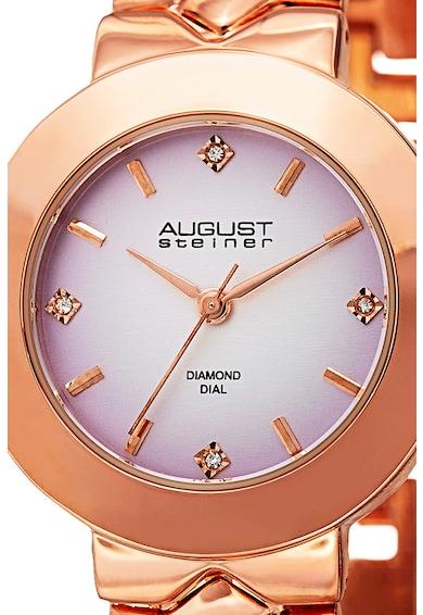 August Steiner Ceas quartz decorat cu 4 diamante Femei