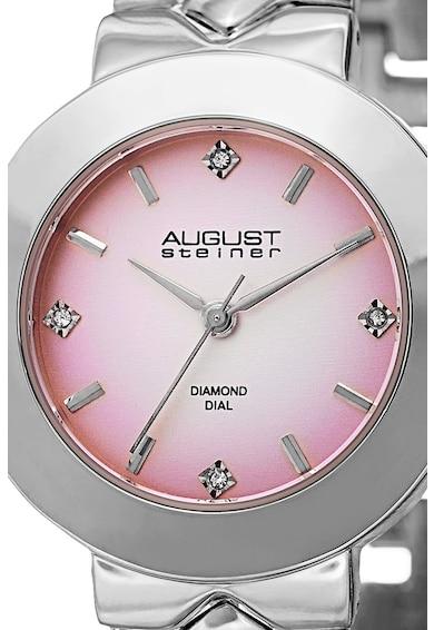 August Steiner Ceas analog decorat cu diamante Femei
