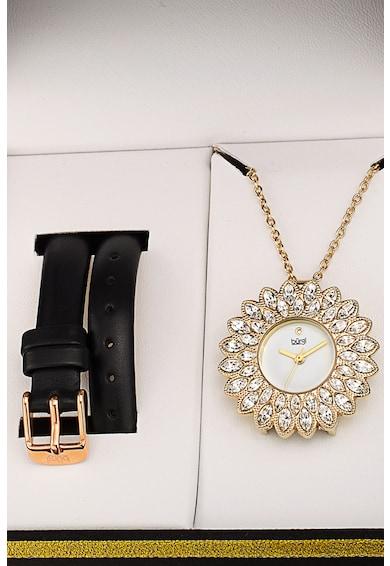 BURGI Ceas rotund decorat cu cristale Swarovski Femei