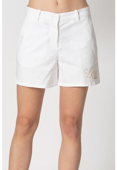 Love Moschino Къс панталон с лого с декоративни камъни Жени