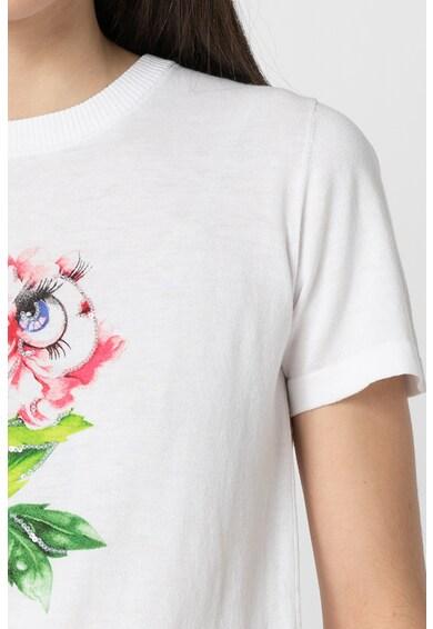 Love Moschino Tricou tricotat cu aplicatii din paiete Femei