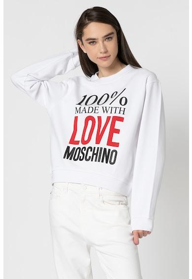Love Moschino Bluza sport cu imprimeu logo Femei