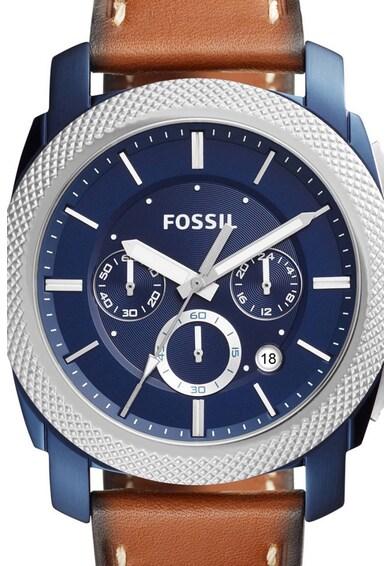 Fossil Часовник с хронограф и кожена каишка Мъже