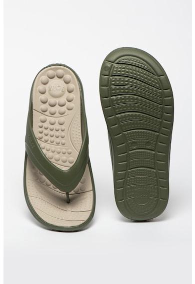 Crocs Papuci din cauciuc cu amortizare si brant texturat Reviva Barbati