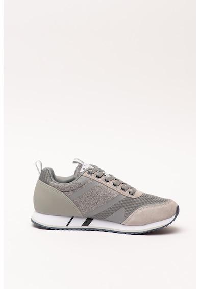 SUPERDRY Pantofi sport cu garnituri din piele intoarsa ecologica Fero Runner Core Barbati