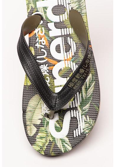 SUPERDRY Papuci flip-flop cu imprimeu tropical Scuba Barbati