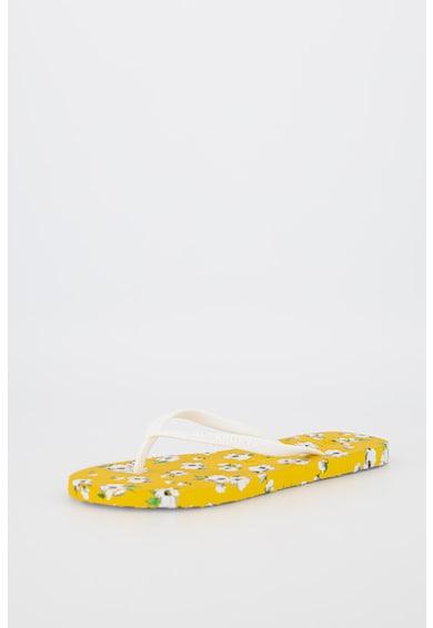 SUPERDRY Papuci flip-flop cu model floral Femei