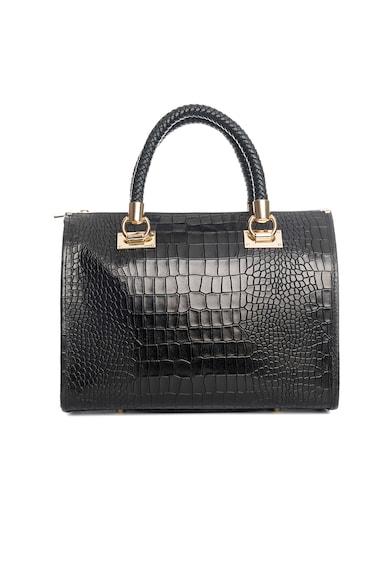 Lia Biassoni Малка кожена чанта Gavia с шагрен Жени