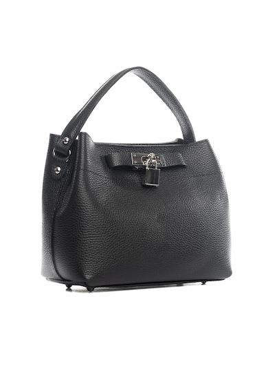 Lia Biassoni Кожена чанта Toce с декоративен катинар Жени