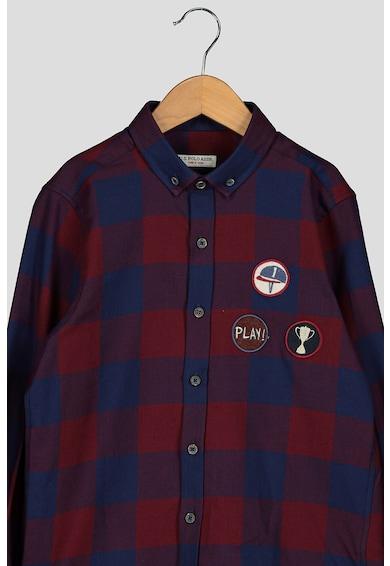 U.S. Polo Assn. Camasa din bumbac cu imprimeu in carouri Baieti