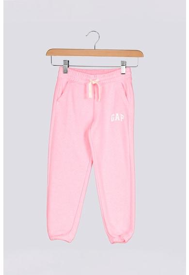 GAP Pantaloni sport cu imprimeu logo contrastant Fete