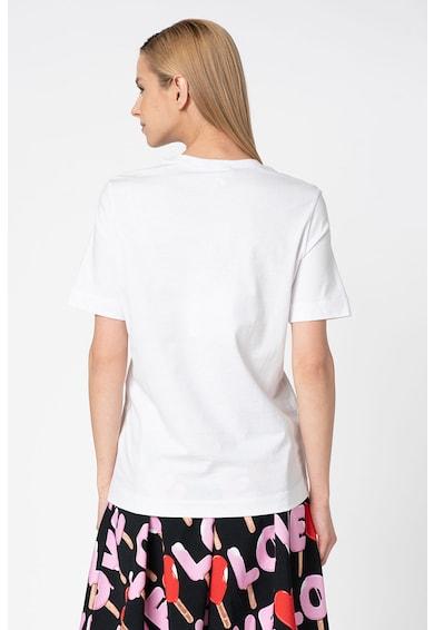 Love Moschino Tricou cu imprimeu logo cauciucat Femei