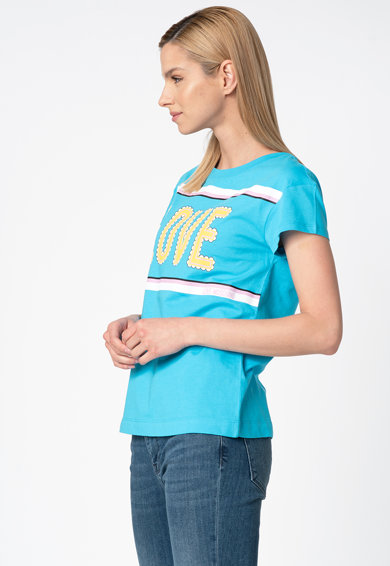 Love Moschino Tricou regular fit cu imprimeu text Femei