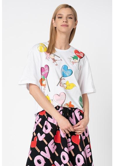 Love Moschino Tricou lejer cu imprimeu grafic Femei