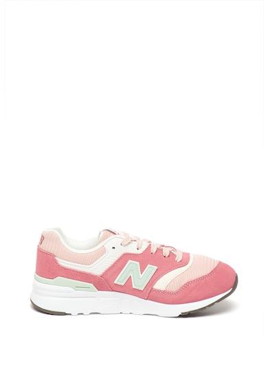 New Balance Pantofi sport cu insertii de piele intoarsa si piele 997H Fete