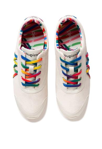 DESIGUAL Pantofi sport de piele intoarsa cu detalii contrastante Femei