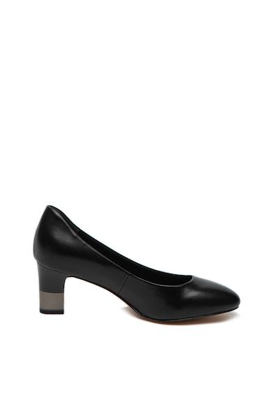 Tamaris Pantofi de piele cu toc stralucitor Femei