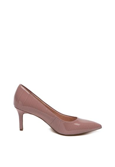 Tamaris Pantofi de piele ecologica, cu varf ascutit si toc stiletto Femei