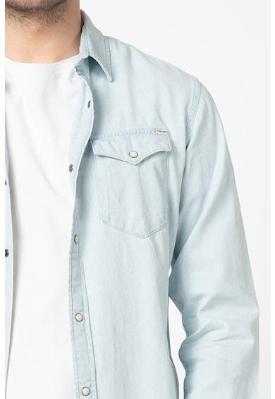 Jack&Jones Риза от деним Sheridan с пришити джобове Мъже