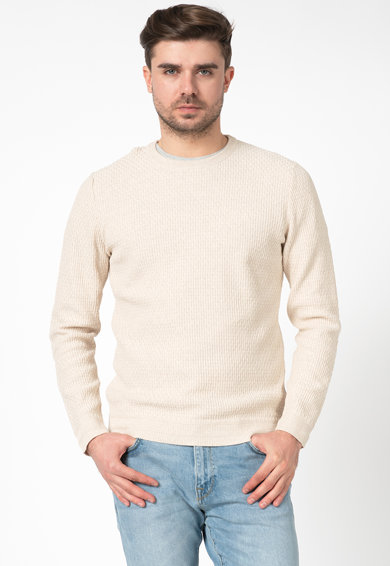 Selected Homme Pulover din bumbac organic cu aspect texturat Oliver Barbati