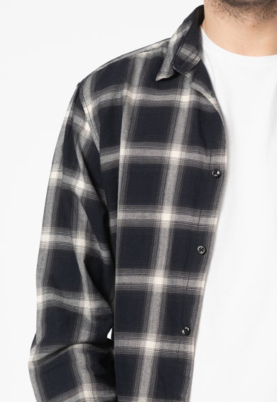 Jack&Jones Риза Noir със свободна кройка и каре Мъже