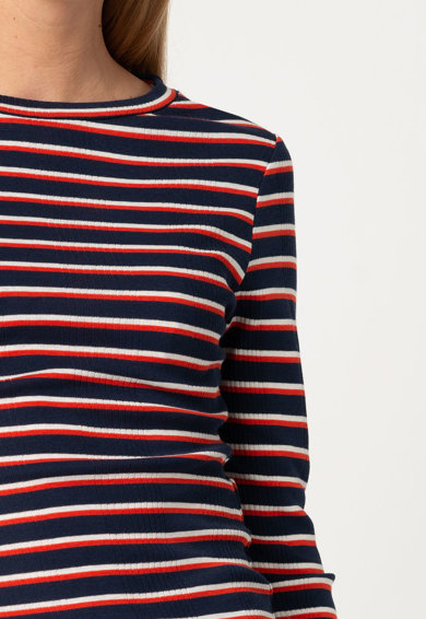 Only Раирана блуза Reni от органичен памук Жени