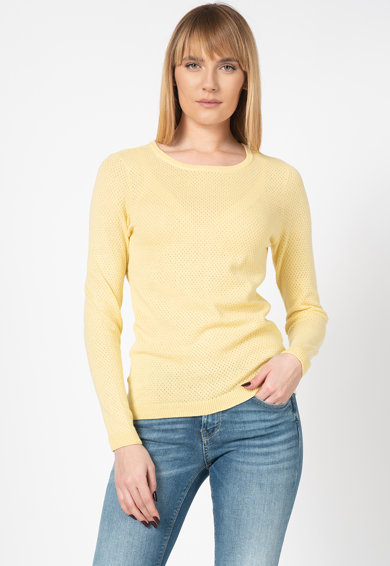 Vero Moda Pulover din bumbac organic cu perforatii Minniecare Femei