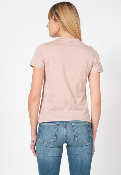 Vero Moda Tricou cu decolteu la baza gatului si imprimeu grafic Nature Femei