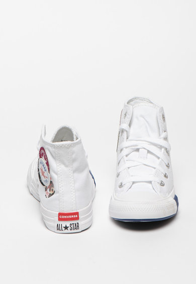 Converse Tenisi mid-high cu aplicatie logo Chuck Taylor All Star Fete