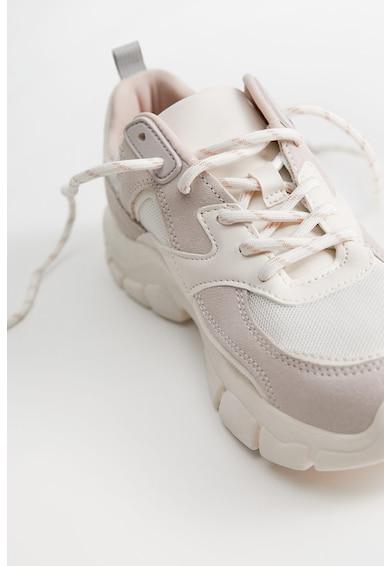 VIOLETA BY MANGO Pantofi sport cu garnituri din piele intoarsa Simone Femei