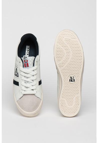 Napapijri Pantofi sport cu model colorblock si garnituri din piele si piele intoarsa Barbati