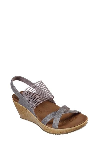 Skechers Sandale din material textil cu talpa wedge Beverlee-High Tea Femei